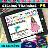 PR Syllables in Spanish - Sílabas Trabadas PR - Boom Cards