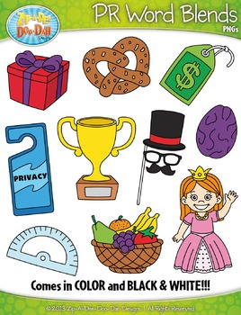 PR Word Blends Clipart {Zip-A-Dee-Doo-Dah Designs}