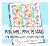 PRINTABLE PRAC PLANNER 'COLOURS OF THE WIND'