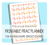 Printable Prac Planner ('FLOCKING FABULOUS' cover)