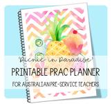 PRINTABLE PRAC PLANNER 'PICNIC IN PARADISE'