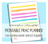 Printable Prac Planner ('RAINBOW LOLLIPOP' cover)