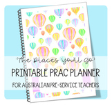 Printable Prac Planner ('THE PLACES YOU'LL GO' cover)