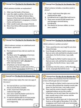 PRACTICE Excerpt The Boy On the Wooden Box Task Cards Activity