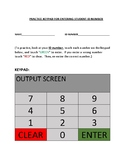 PRACTICE KEYPAD FOR ENTERING STUDENT ID NUMBER
