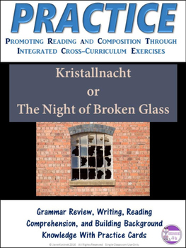 Revise and Edit  Kristallnacht Task Cards Extended Activity