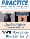 Revise and Edit Kristallnacht and The Boy On the Wooden Box  Activities Bundle
