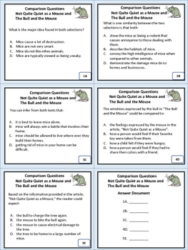 Revise and Edit Not Quite Quiet As A Mouse Task Cards Activity