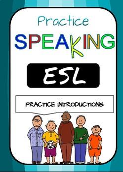 PRACTICE SPEAKING FREEBIE*** Practice introductions