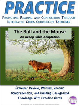 PRACTICE The Bull and the Mouse Task Cards Activity