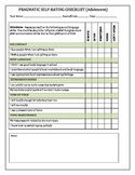 PRAGMATIC SELF-RATING CHECKLIST (Adolescent)