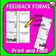 Student FEEDBACK PRAISE! QUESTION! POLISH!  Peer to Peer Editing!