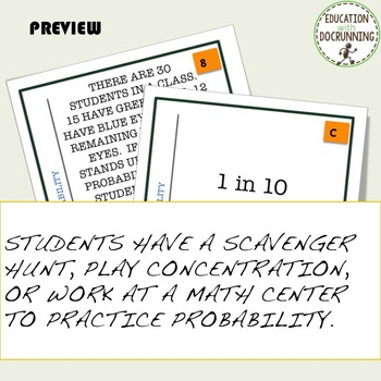 Probability Word Problems  Task Card Activity
