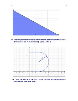 PRE-ALGEBRA POST ASSESSMENT (ANSWER KEY INCLUDED)