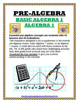 PRE-ALGEBRA / INTRODUCTION TO AGEBRA 1