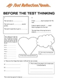 FREEBIE: Pre and Post Test Pages: reflecting on test preparation