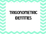 PRE CALCULUS TRIGONOMETRIC IDENTITIES WORD WALL / ANCHOR CHART