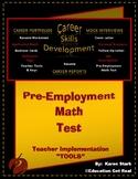 PRE-EMPLOYMENT MATH TEST - PART #9 - Careers & Job Hunting Skills Tool Kit