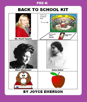 PRE-K BACK TO SCHOOL KIT {LIT, CLIPART ETC HANDY YEAR-ROUND, 95 PP, SALE-PRICED}
