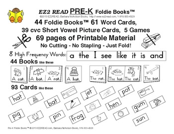 EZ2READ PRE-K FOLDIE BOOKS®