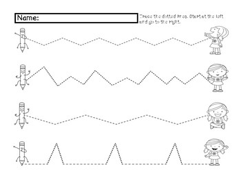 PRE-K & KINDERGARTEN TRACE AND CUT WORKSHEETS by KINDER ...