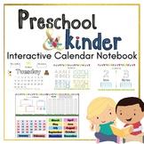 PRE-K Kinder Calendar Learning Binder (Morning Busy Binder)