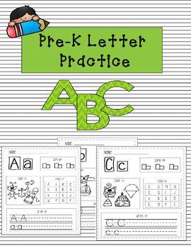 PRE-K LETTER PRACTICE - INDPENDENT WORK