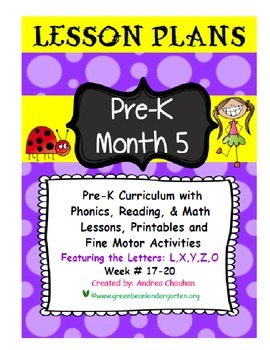 PRE-K Lesson Plans MONTH 5 Bundle by GBK!!!! New!!