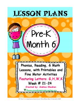PRE-K Lesson Plans MONTH 6 Bundle by GBK!!!! New!!