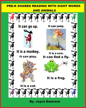 PRE-K SHARED READING SIGHT WORDS AND ANIMALS