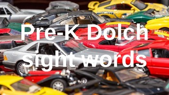 PRE-Kindergarten Dolch Sight Words Powerpoint - CAR THEME