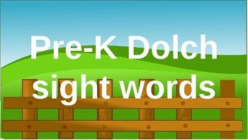 PRE-Kindergarten Dolch Sight Words Powerpoint - COUNTRY FARM THEME