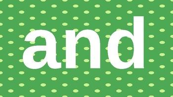 PRE-Kindergarten Dolch Sight Words Powerpoint - GREEN DOTS
