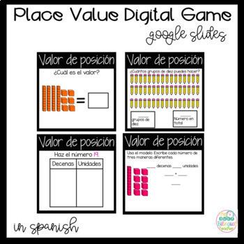 Math Bundle Games in Spanish for First Graders *Google Slides*