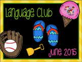 June 2015 Language Club