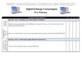 PRE-PRIMARY Technologies Western Australian Curriculum Checklist