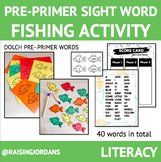 PRE-PRIMER Sight Word Fishing Activity