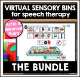 Speech Therapy Speech Sounds Boom Cards™ Sensory Bins: HUGE BUNDLE