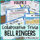 Collaborative Bell Ringers - Team Trivia, Puzzles, and Riddles - Volume 3