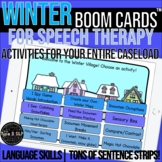 Winter Themed Boom Cards™ for Speech Therapy with Sentence Strips