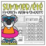 French Summer Worksheets   cahier d'activités été