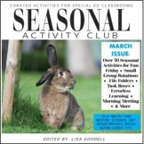 MARCH Curated Special Ed Activities SEASONAL ACTIVITY CLUB