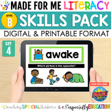Made For Me Literacy Digital Skill Practice (Level B: Set 4)