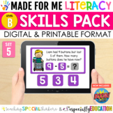 Made For Me Literacy Digital Skill Practice (Level B: Set 5)