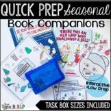 Speech Therapy Book Companions Bundle: Seasonal Quick Prep Book Companions
