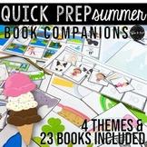 PRE-SALE Summer Theme Speech Therapy Quick Prep Book Companions