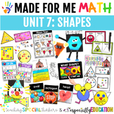Unit 7: Shapes (Made For Me Math)