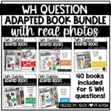 WH Question Adapted Books with Real Photos BUNDLE