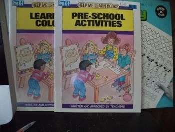 PRE SCHOOL ACTIVITIES COLORS   MATH 1   (set of 3)
