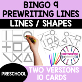 PREWRITING FINE MOTOR BINGO GAME!  Two versions distance learning